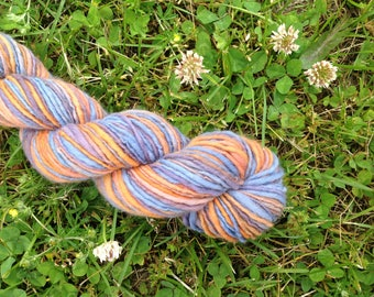 BEACH HORIZON - Handspun Merino Worsted Weight Yarn - 98 YDS