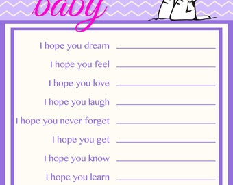 Snoopy Baby Shower Games Dear Baby~Printable~INSTANT DOWNLOAD