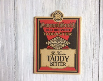 Retro drinks Coaster TADDY Bitter from Tadcaster Brewery Genuine 1980s Beer Mat from a British Pub