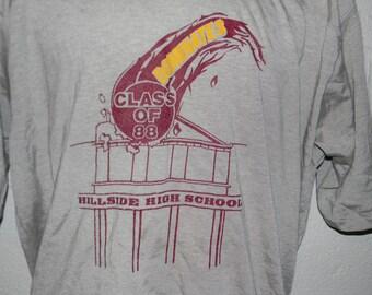 Vintage Class of 1988 Hillside High School New Jersey NJ T-Shirt XL