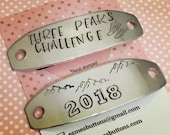 Walking Boot tags, Fell walking boot tags, mountain walking boot tags lace plates, Hand stamped, gift for her, gift for him, uk seller,