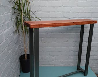 Console table wood & metal industrial chic