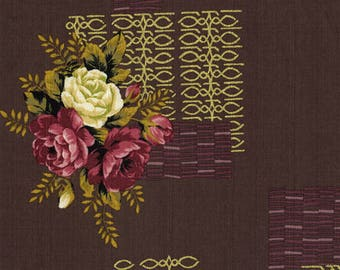 Kirstine in Wild Rose (Bark Cloth Fabric) by Gertrude Made from the Outback Wife collection for Ella Blue #TE-6010-WR by 1/2 yard