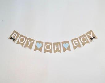 BOY OH BOY Baby Shower Banner