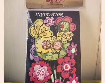 Pack of 1970's Invitation Cards - 10 Cards with Envelopes by Delagado Mansell