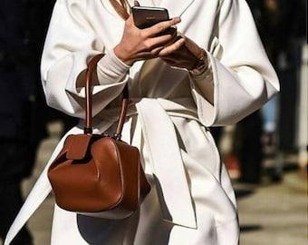 Womens Genuine Leather Handbag Unique Fashion Hobo Tote Bag 6297