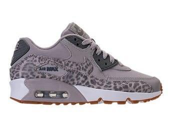 NEW Nike Air Max 90 Women/Youth Made with SWAROVSKI® Crystals - Cheetah GREY