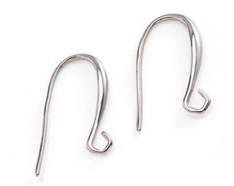 4 pcs Silver tone earring hooks,Fish hooks,platinum finding,silver tone ear wire,copper ear hook,silver tone ear hook,iron earring hook