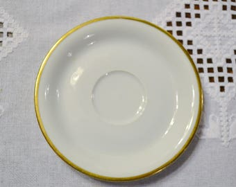 Vintage Eschenbach Regina Saucer White Gold Rim Baronet Bavaria Germany Replacement Panchosporch