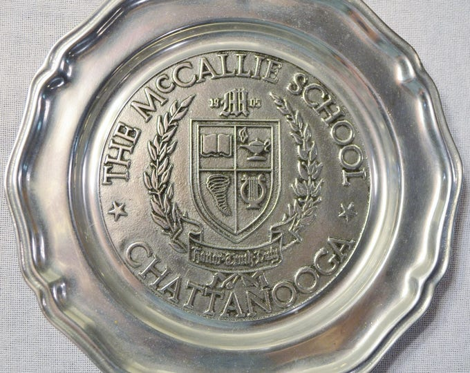Vintage McCallie School Pewter Plate RWP Chattanooga Tennessee Boys School Commemorative Decorative Plate PanchosPorch
