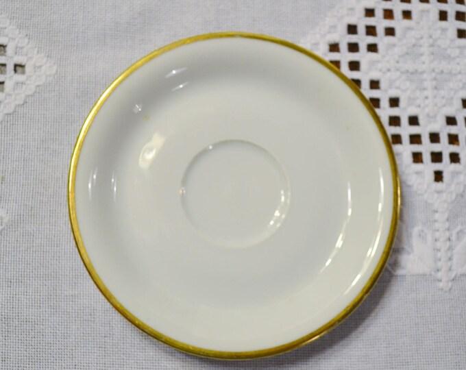 Vintage Eschenbach Regina Saucer White Gold Rim Baronet Bavaria Germany Replacement Panchosporch