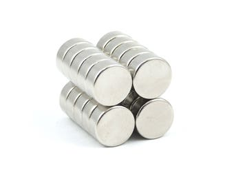 10mm x 4mm strong N35 neodymium round circular disk magnets ideal for reborn dolls dummies / pacifiers and craft projects GuysMagnets