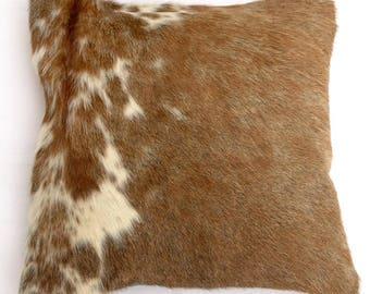 Natural Cowhide Luxurious Hair On Cushion/ Pillow Cover (15''x 15'') A110
