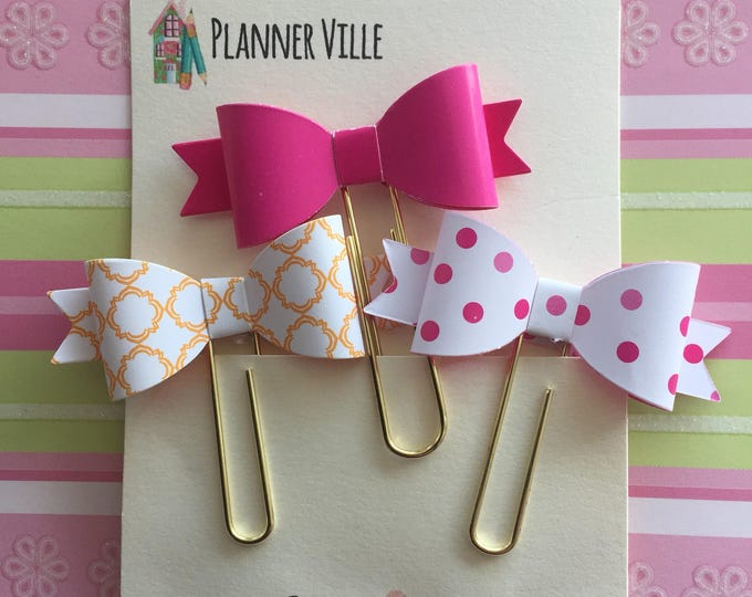 Gold Decorative Paper Clips -SOLD FOR CHARITY. Jumbo Planner Clips