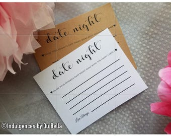 Set of 10 Personalized Date Night Advice Card for Bride and Groom - Advice Wishes for Mr and Mrs - Wedding Card - Marriage advice card