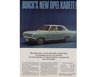 Vintage poster advertisement of a 1966 Buick Opel - 45