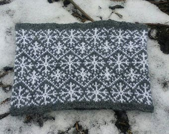 Knitting Pattern for the Snow in the Fens Circular Scarf