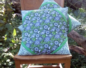 Pair of Quilted Pillow Covers 18 x 18