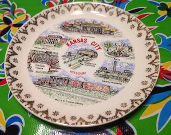 Vintage ceramic Kansas City, Missouri  souvenir plate