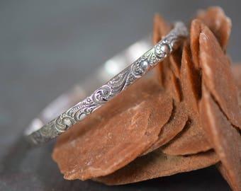 Vintage Edwardian Sterling Silver Bangle Bracelet