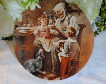 Norman Rockwell The Toy Maker 1977 Display Plate Wedding House Warming Gift