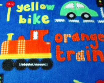 Bus Bike Train Car Colors Blanket