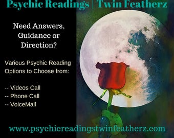Psychic Reading 30mins. Channeled through Spirit - Recorded. Emailed to you within 2 Day. Intuitive, Fast, In-depth & Detailed!