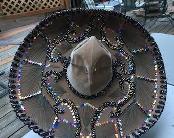 "Vintage Pigalle Mexican Sombrero, Adult 23"" Diameter xxxxx"