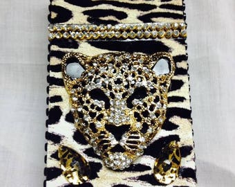 Cheetah Cigarette Case 100's or king size