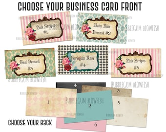 You Choose 1 ready-made pre designed business card template for use with vista print
