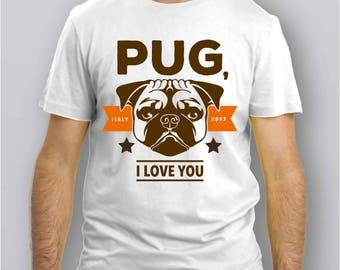 028C -T-Shirt CARLINO - PUG not DRUGS