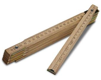 Meter wooden  folding ruler Natural wood