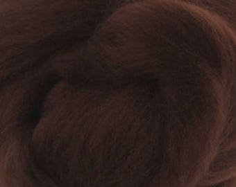 Merino Wool Roving / Combed Top / in DHG Chocolate