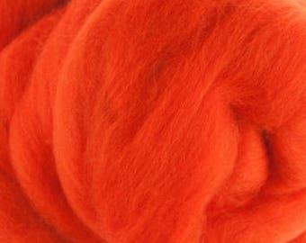 Merino Wool Roving / Combed Top / in DHG Orange