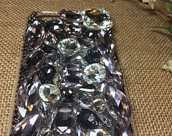 Phone cases with big colorful gems, blinged out cell phone cases, custom phone cases with gems, bling phone cases