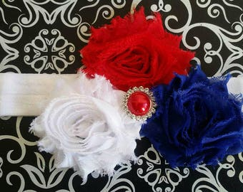 American Headband, Red White And Blue Headband, 4th Of July Headband, Fourth Of July Headband, Baby Headband, Baby Photo Prop