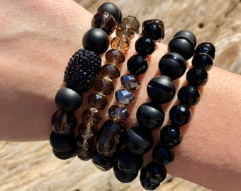 Bracelet Stack / Beaded Bracelet / Stackable bracelet / Stretch bracelet
