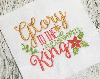 Christmas Embroidery - Holiday Embroidery - Religious Embroidery saying- Religious Embroidery Design - Christmas Embroidery Saying