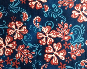 One, One Yard and Five Inch Piece of Fabric Material - Surf City