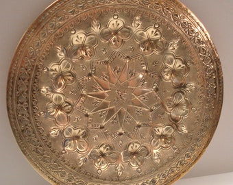 Vintage Ornate Brass Wall Plate - Made in India - Ready to Hang -  Excellent Condition!!