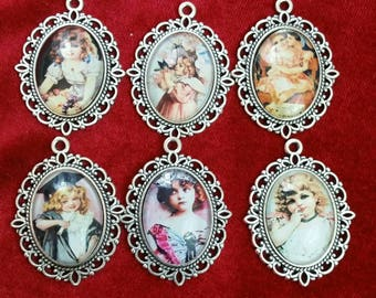 CAMEO Child Image glass Cameo (CHOOSE 1 in setting) vintage child pendant charm. YouTube, https://youtu.be/SdLpBq7Vp50