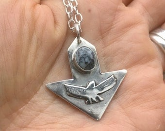 Sterling Silver arrow head pendant