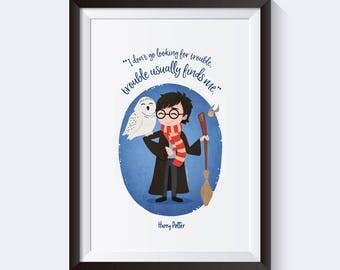 Cute Harry Potter print