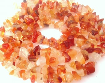 10 pearls 'chips' matching carnelian Agate natural 4/78 mm in diameter