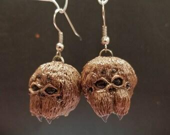 Sculpted Spider Head Earrings