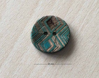 """Pretty """"tribe"""" Brown turquoise size: 25 mm"""