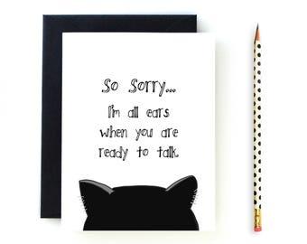 All Ears - Sympathy Card