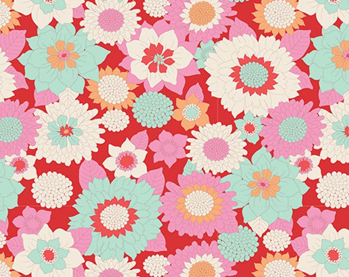 TILDA LEMONTREE - Boogie Flower Red 100010 - 1/4 yard
