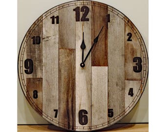 Charming Ideas Large Rustic Clock. 24 inch Large Rustic Wall Clock  Big Barn Wood with reclaimed wood raw wall clock Etsy