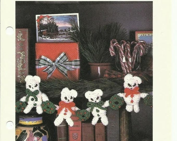 Retrocon Sale - Garland of Bears holiday crochet pattern digital download